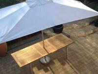 Westminster Teak Large Garden Table + Westminster HUGE Parasol *Del may be pos*