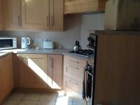 Kitchen units and cooker, hob freezer and fridge by Electrolux and brandnew hot point dishwasher