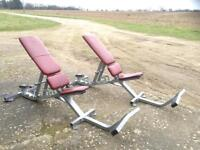2 x Hammer Strength Commercial Utility Benches (£300 each) (Delivery Available)