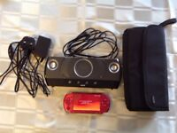 Sony PSP 3000 With Speakers & 64GB Memory 1500 Games Great Birthday Present