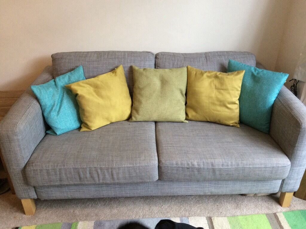 3 Seater Sofa Ikea Karlstad Isunda Grey Removable