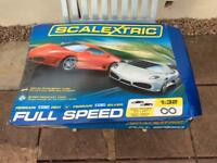 Scalextric full speed.