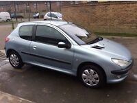 2003 Peugeot 206 3 door hatchback 1.4cc petrol 12 months mot very clean car