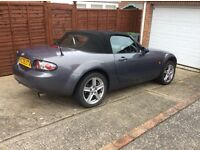 Mazda MX5 1.8 Soft Top Convertible. Metallic Grey , low Mileage , With Full Service History .