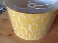 Large Lampshade. Yellow. Unopened Unwanted Gift. Still in original wrapping. New £10