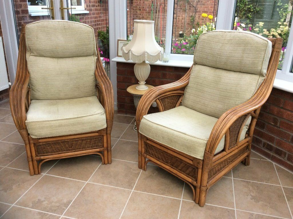 Cane three piece suitein Redditch, WorcestershireGumtree - Cane three piece suites (two armchairs and one two seater settee) suitable for conservatory in excellent condition. Beige coloured chenille (also have some spare flowered cotton covers). From a pet and smoke free home. Collection only. £40 for quick...