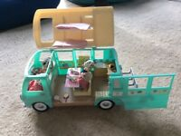 Sylvanian family campervan with figures