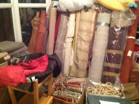 Upholstery fabric hundreds of metes of top quality material for reupholstering work