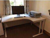 Large white computer desk for sale