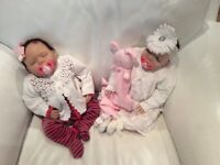 2 BRAND NEW IN BOX REBORN DOLLS - £100 EACH - WILL SELL SEPARATELY