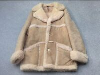 "Suede Sheep skin coat size 42"""