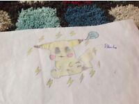 Drawing of a pikachu (a Pokemon)
