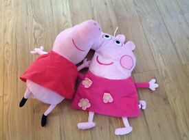 Peppy pig teddy and hot water bottle cover