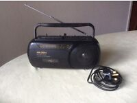 Bush portable radio/cassette player