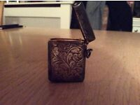 Ladies Silver Vesta Matchbox