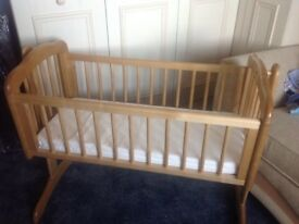 Baby wooden swing Crib