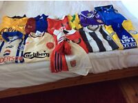 Football shirts for sale some with shorts, boys and youths official merchandise