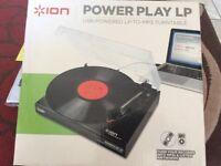 Ion USB record downloading turntable
