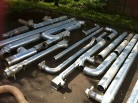 Job Lot of Dust Extraction Spiral Pipe & Blast Gates, Bends etc