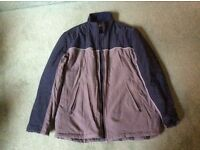 Mens navy and grey padded coat/jacket size XL