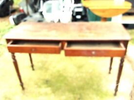 Antique table with drawers wooden,bargain 50% off