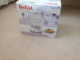Tefal steamer in original box