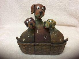 Three comic dogs figurine