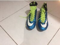 Nike mercurial football boots size 6.5 great condition. Worn once each week and cleaned by grandad!
