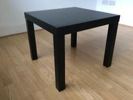 Black side table IKEA LACK