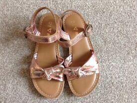 NEXT pink Girls Leather Sandals, Size 12, (excellent condition!)