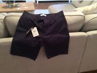 Reiss casual navy blue chino shorts