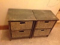 2 chest of drawers with baskets