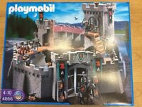 Playmobil 3 sets of Falcon Knights, Castle 4866, multi firing cross bow 4868 and battering ram 4869.