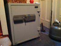 SMALL FIRE AND SECURITY SAFE FOR SALE, WITH KEYS AND OR DIGITAL KEY CODE