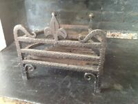 Small wrought iron fire grate