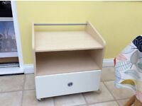 John Lewis children's bedroom furniture piece used as TV stand