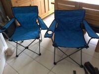 3 fold up picnic chairs