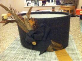 Bespoke wool covered lampshade