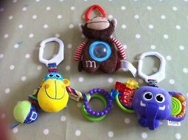 Set of 3 pram toys (Lamaze & Skip Hop)