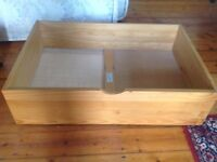 Julian Bowen Underbed Storage Drawer in Pine, 2 available, £25 each