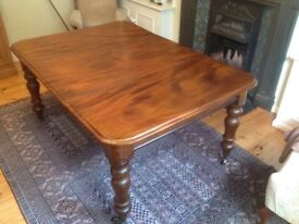 Antique mahogany dining table 112cm X 96cm extending to 157cm