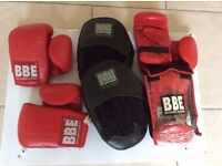 BBE Leather Boxing mitts & pads (JUNIOR)