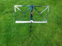 Stag chrome music stand in bag