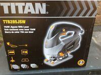 TITAN 750 watt jigsaw c/w laser guide. 240v
