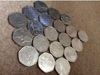 Collectable rare 50p coins