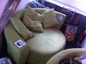 2 x Lime Green Hug/Love Sofas