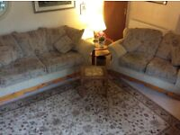 Two and three seater sofas excellent condition