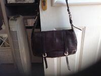 Radley leather mock crock shoulder bag.