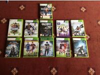 11 Xbox 360 games. Great condition.