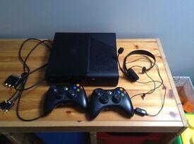X Box 360 e and 10 games